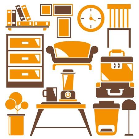 home furniture: home decoration, home furniture Illustration