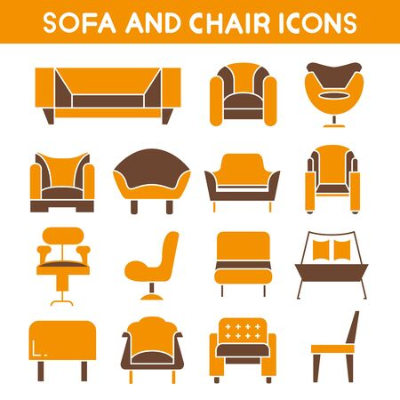 couches: sofa icons, sofas and couches