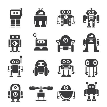 inteligencia: iconos robot Vectores