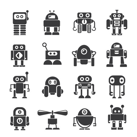 robot pictogrammen Stock Illustratie