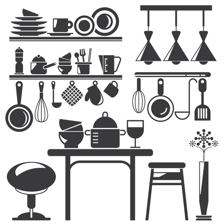 kitchen appliances Illustration