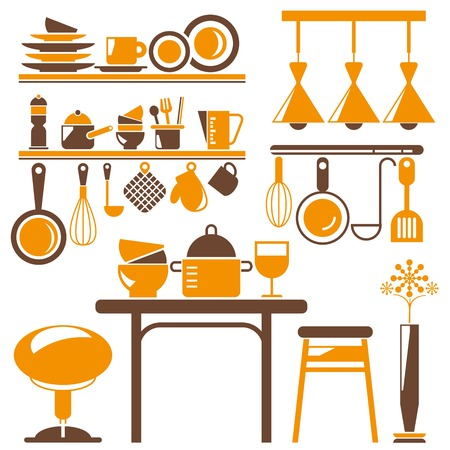 kitchen appliances: kitchen appliances Illustration