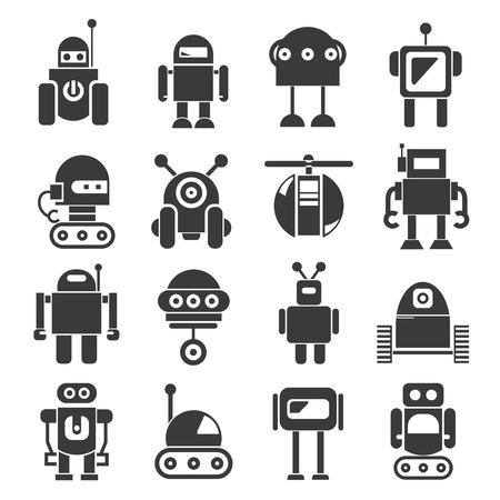Iconos robot Foto de archivo - 52606678
