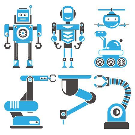 iconos robot Ilustración de vector