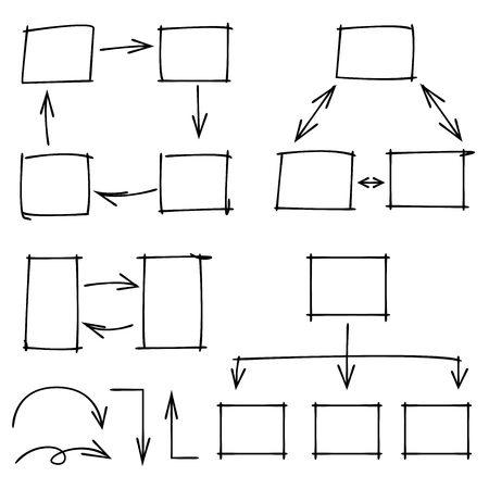 arrow circles: sketch diagram, charts