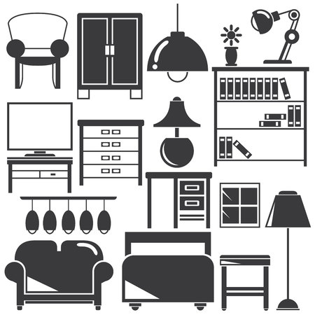 home furniture: home furniture icons