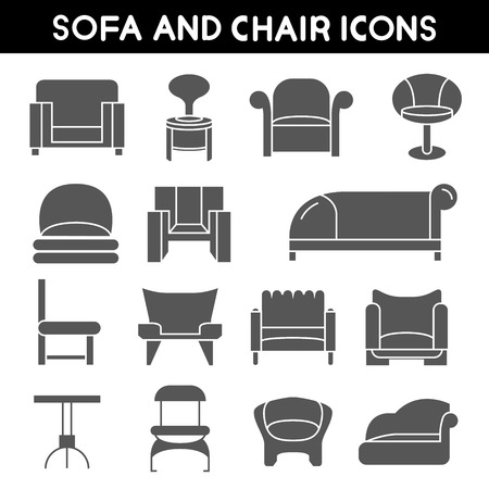 couches: sofa icons, couches furniture icons