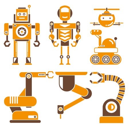 AI: robot icons, Artificial Intelligence AI