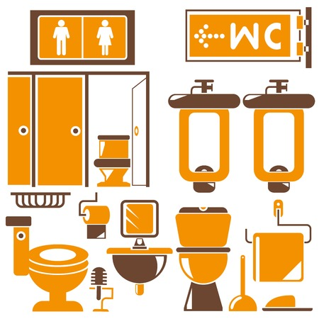 wc: toilet room, wc Illustration