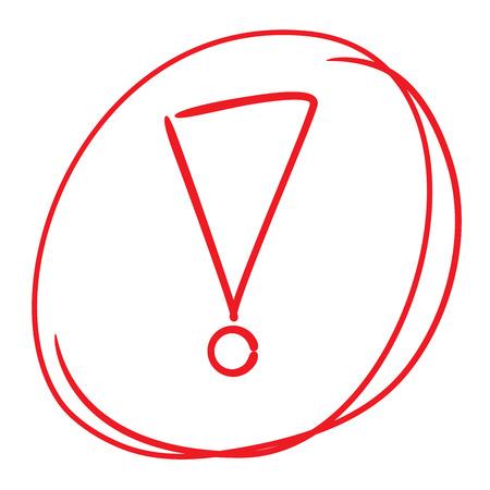 exclamation mark: signo de exclamación  Vectores