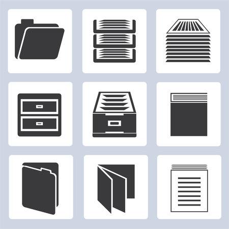 icônes de document Vecteurs
