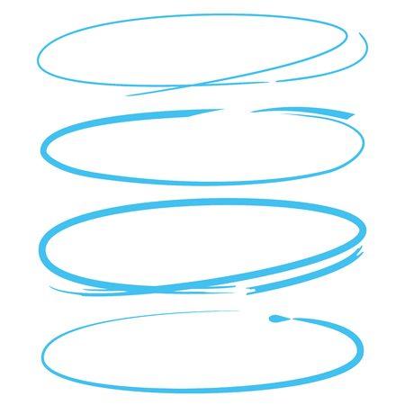 éléments surligneur cercle bleu