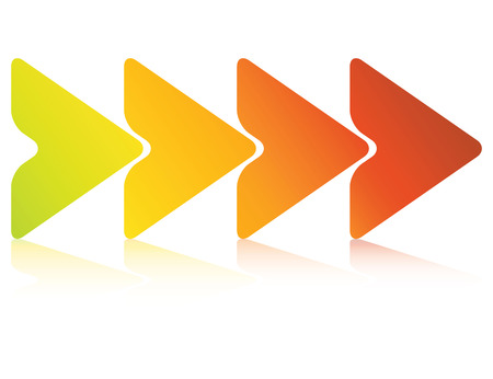 triangle process diagram Ilustração