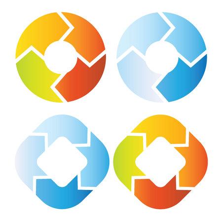 loop: circle loop diagram Illustration