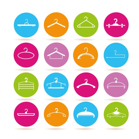 coathanger: clothes hanger icons