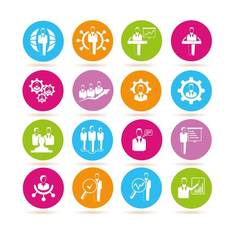 tendance: human resource management icons Illustration