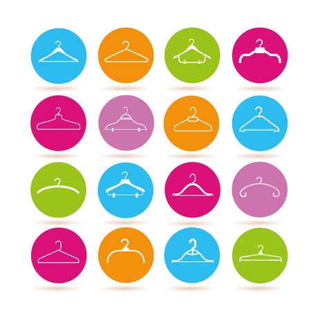 hangers: clothes hangers icons