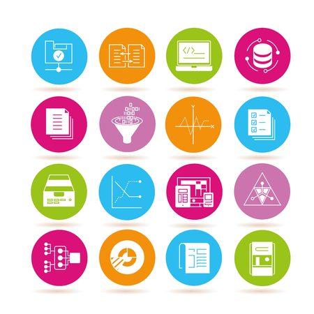 estimation: data icons, data analytics icons