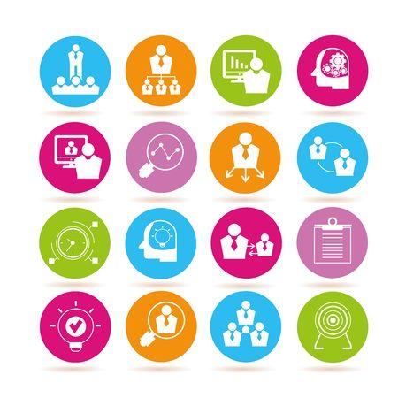 human resource affairs: business management icons Illustration