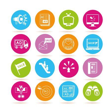 marketing and advertising icons Illustration