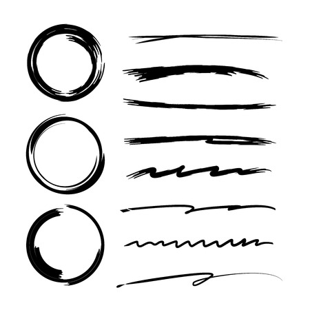 circl: blackhand drawn circle underlines Illustration