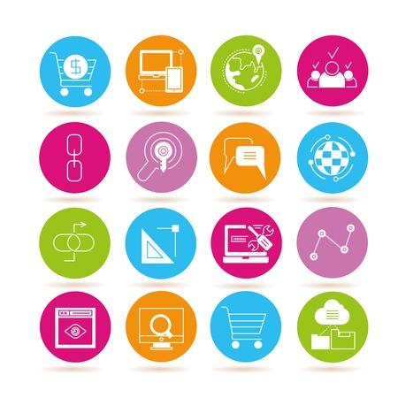 web marketing: web marketing icons, seo icons