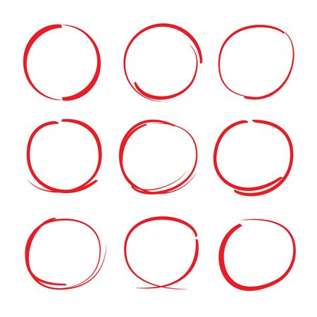 emphasis: red hand drawn circle highlighters