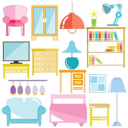 furniture: home furniture Illustration