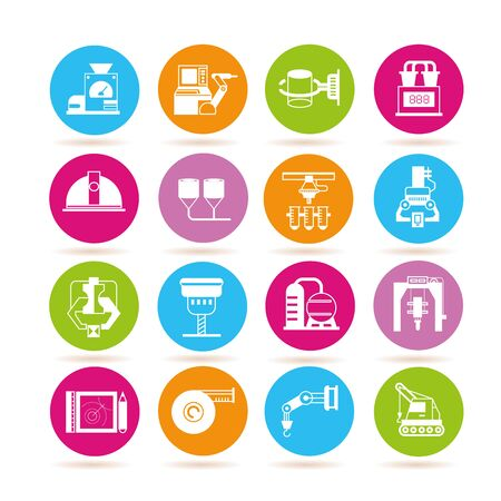 manufacturing: manufacturing icons