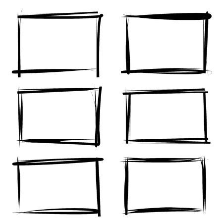 black frame rectangle Vettoriali