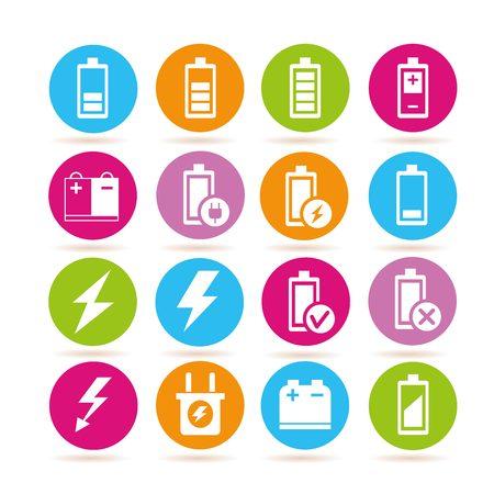 polarity: battery icons