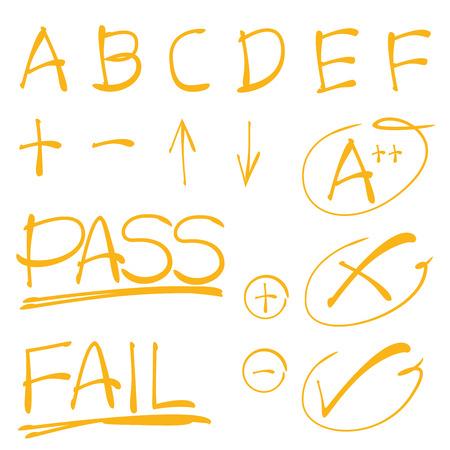 grade: grade results Illustration