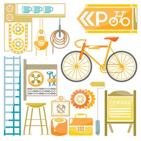 garage: bicycle garage