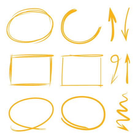 arrows circle: circle markers arrows Illustration