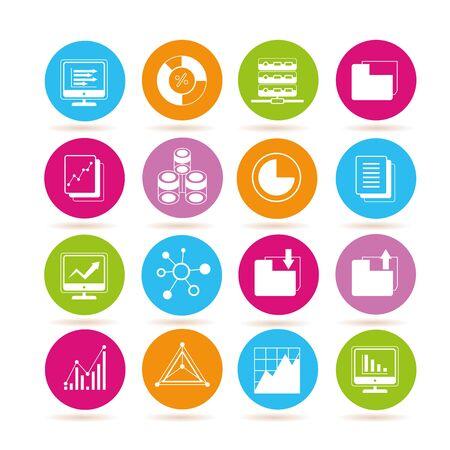criterion: network icons, data analytics icons Illustration