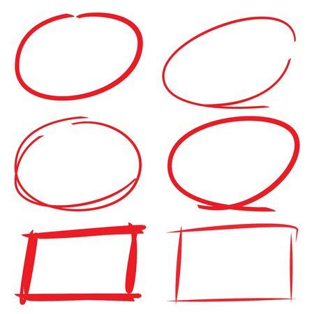 círculo y rectángulo rotulador s