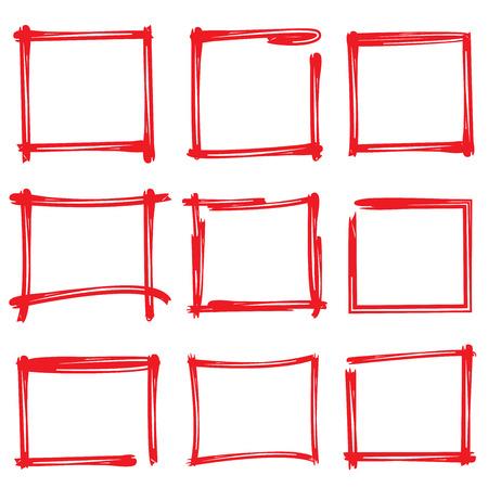 emphasis: red frames Illustration