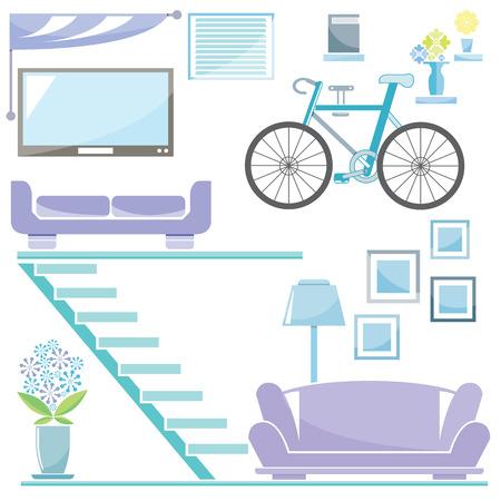luxury homes: home furniture Illustration