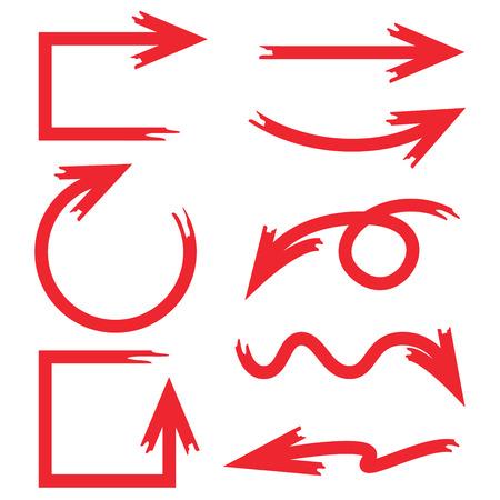 hand drawn arrows Illusztráció