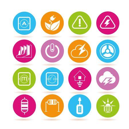 energie en elektriciteit iconen