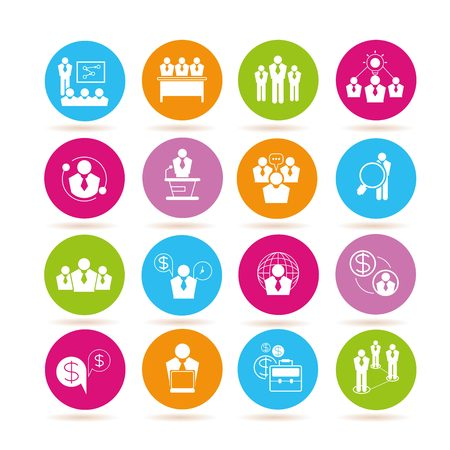 collocation: business meeting icons Illustration