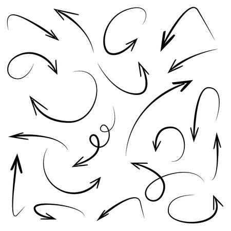 flechas dibujadas a mano Ilustración de vector