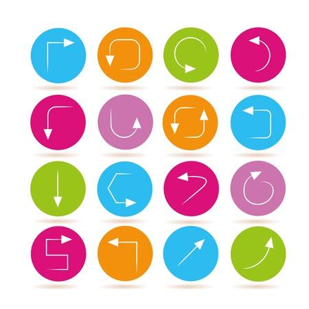 satin round: arrow icons Illustration