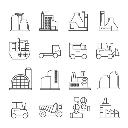 Iconos de la industria, los iconos de la construcción