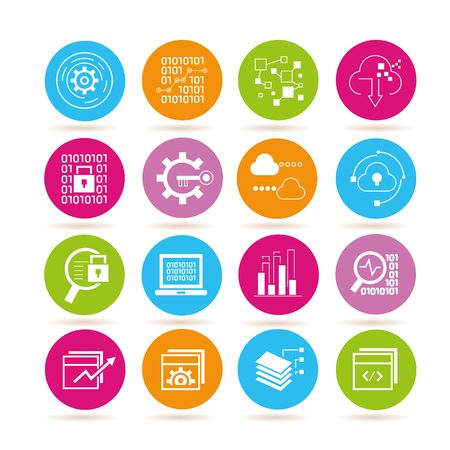finance icons: data analytics icons Illustration