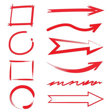 emphasized: arrows circle highlighter, rectangle highlighter