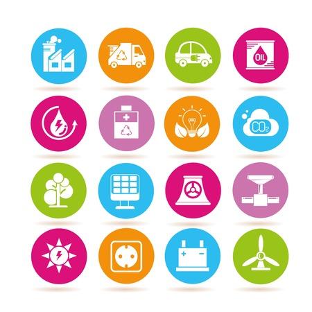 turbina: Iconos de la energía y de la industria Vectores