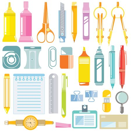office supply: stationery icons, office supply icons