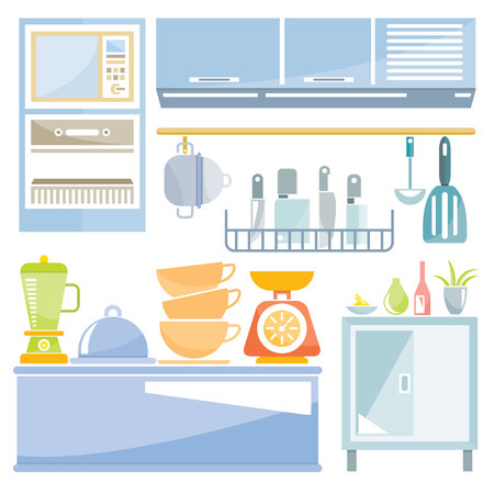 kitchen ware: kitchen appliances Illustration