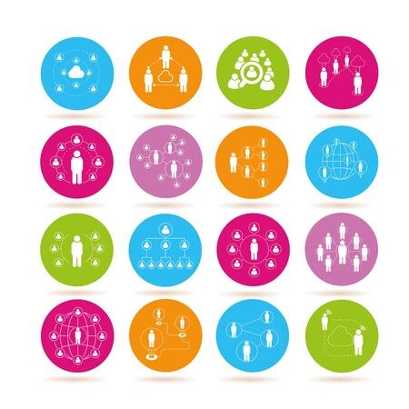 group icon: people connection icons, network icons Illustration